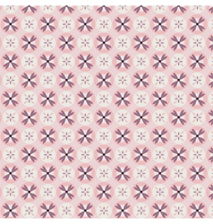 Rose quartz flower seamless pattern vector