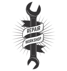 Repair workshop label vector