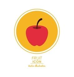 Apple icon healthy food design graphic vector