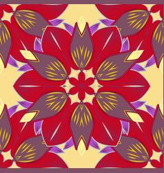 Abstract mandala or whimsical snowflake line art vector