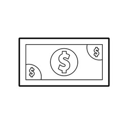 Bills dollar isolated icon vector