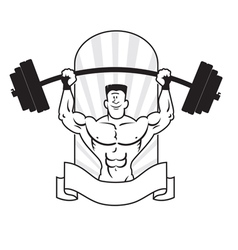 Bodybuilder logo vector