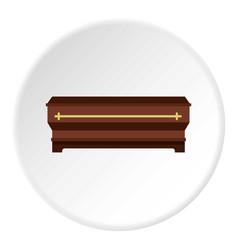 Coffin icon circle vector