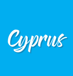 Cyprus text design calligraphy vector