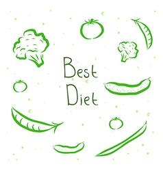 Design elements vegetables vector image