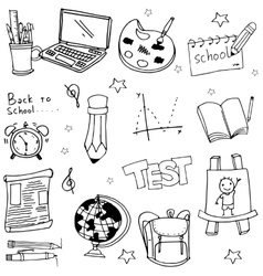 Doodle of school education object vector image vector image