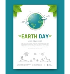 Earth day brochure vector
