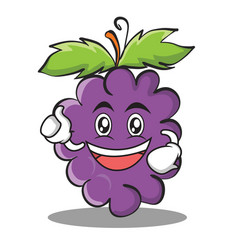 Enthusiastic grape character cartoon collection vector