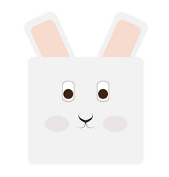 Isolated rabbit face vector