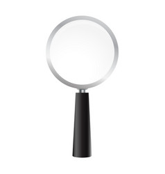 magnifying glass on a white background vector image