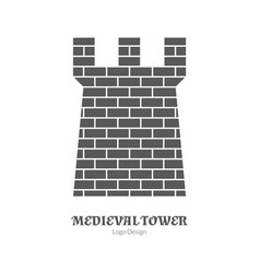 medieval logo emblem template black simple style vector image vector image