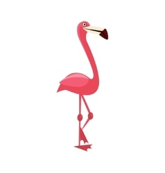 Pink flamingo funny vector