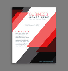 Red stripes business annual report brochure vector