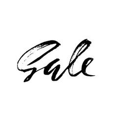 sale handwritten lettering grunge dry brush vector image