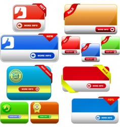 set of colorful vector banners vector image