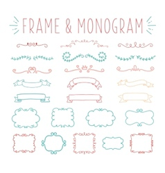Set of simple and graceful monogram design vector image vector image