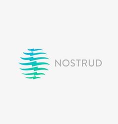 Spine logo design medical diagnostic vector