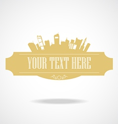 text city vector image