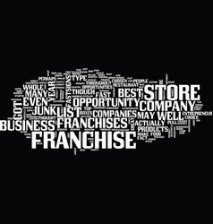 The best franchise companies text background word vector