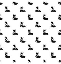 Winter snow boot pattern simple style vector