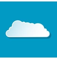 Drifting cloud icon vector