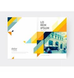 Minimalistic brochure design vector