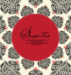 Ornate red and black frame vector
