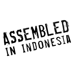 Assembled in indonesia rubber stamp vector