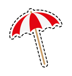 striped parasol icon image vector image