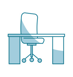 Office workplace isolated icon vector