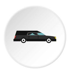 Hearse icon circle vector