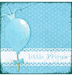 Retro background little prince vector