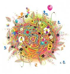 happy holiday card vector image