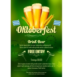 Oktoberfest celebration background vector