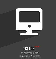 Monitor icon symbol flat modern web design with vector