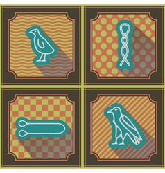 Seamless background with egyptian hieroglyphs vector