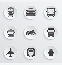Simple transport icons set vector image
