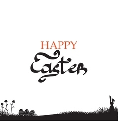 Easter background with easter bunny vector