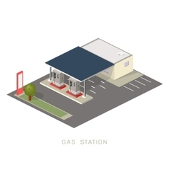Flat 3d isometric gas petroleum vector