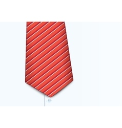 Shirt and tie close-up vector