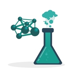 Science icon laboratory concept flat vector