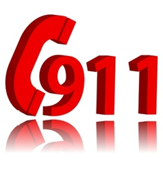 911 emergency symbol vector