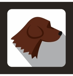 Beagle dog icon flat style vector