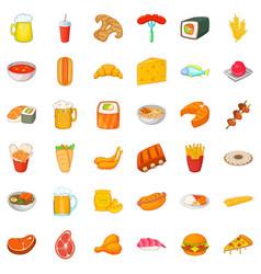 Ale icons set cartoon style vector