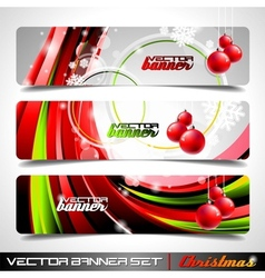 banner set on a christmas theme vector image vector image