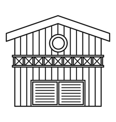 Barn for animals icon outline style vector