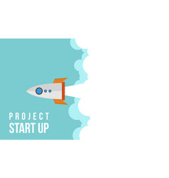 Business infographic start up rocket and cloud vector
