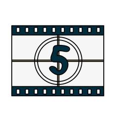 Countdown film icon image vector