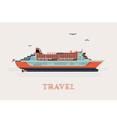 Cruise liner ship icon vector