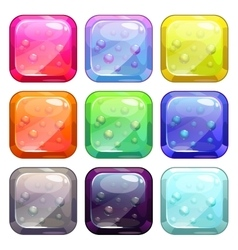 Fancy colorful glossy buttons vector